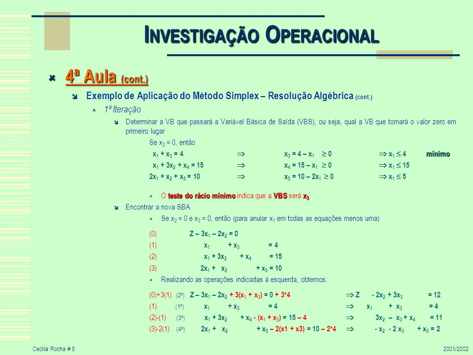 INVESTIGAÇÃO OPERACIONAL