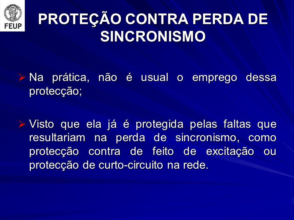 PROTEÇÃO CONTRA PERDA DE SINCRONISMO