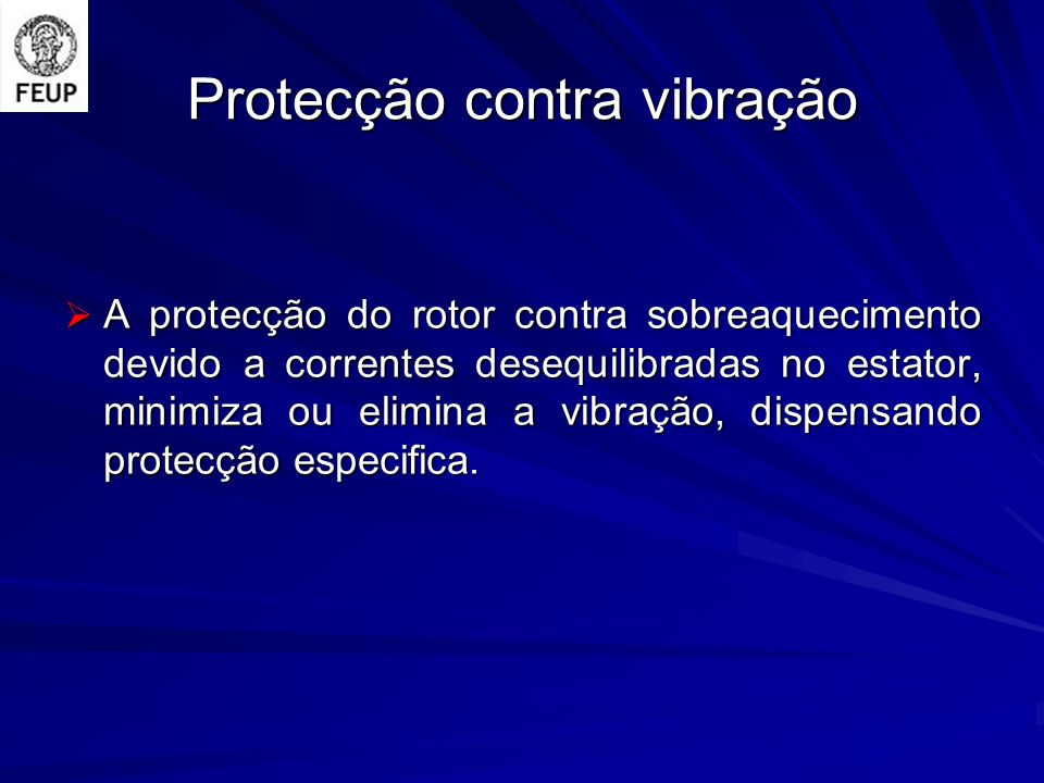 Protecção contra vibração