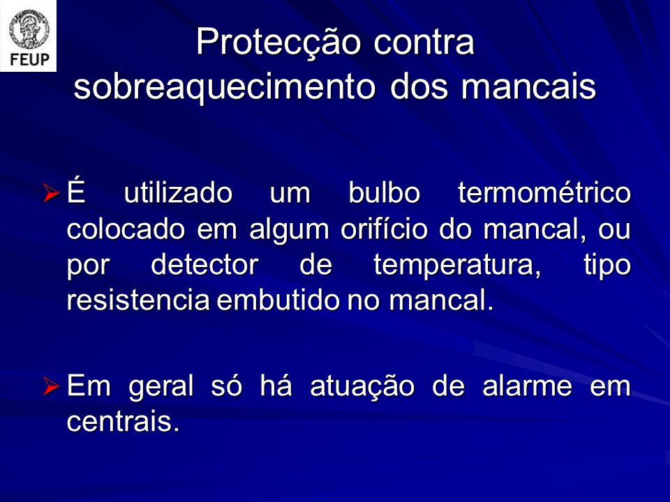 Protecção contra sobreaquecimento dos mancais