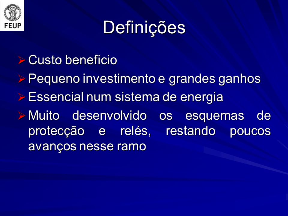 Definições Custo beneficio Pequeno investimento e grandes ganhos