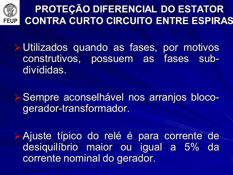PROTEÇÃO DIFERENCIAL DO ESTATOR CONTRA CURTO CIRCUITO ENTRE ESPIRAS