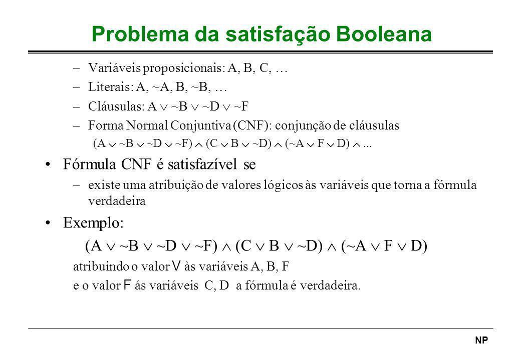 Problema da satisfação Booleana
