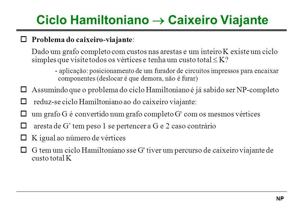 Ciclo Hamiltoniano  Caixeiro Viajante