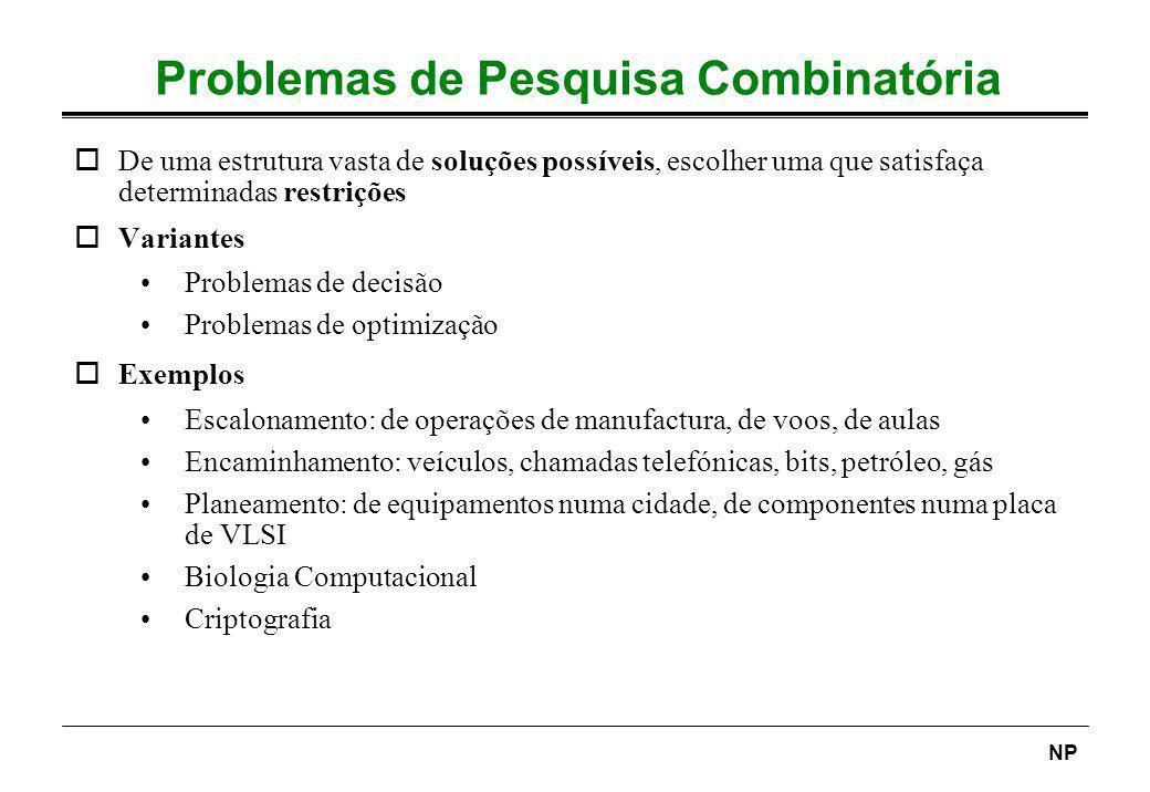 Problemas de Pesquisa Combinatória