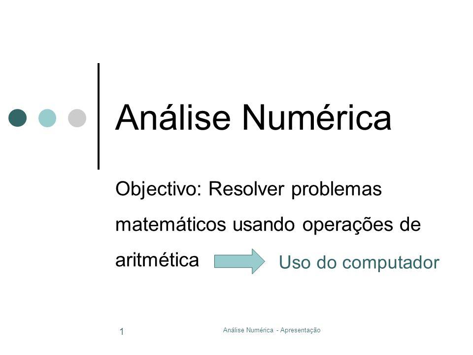 Análise Numérica - Apresentação
