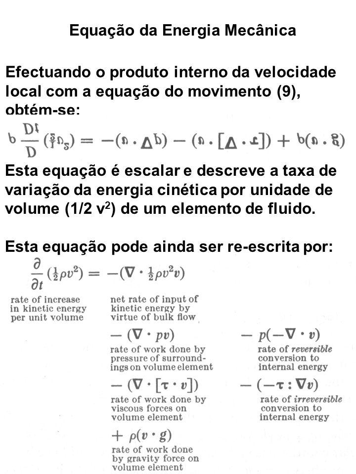 Equação da Energia Mecânica