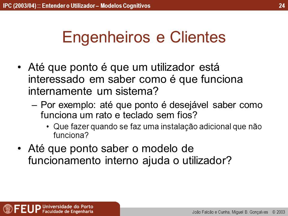 Engenheiros e Clientes