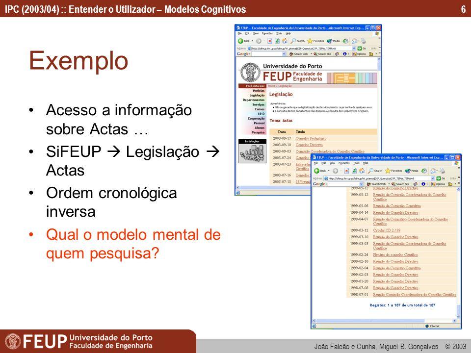 Exemplo Acesso a informação sobre Actas … SiFEUP  Legislação  Actas
