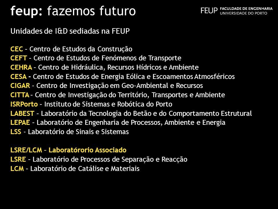 feup: fazemos futuro Unidades de I&D sediadas na FEUP