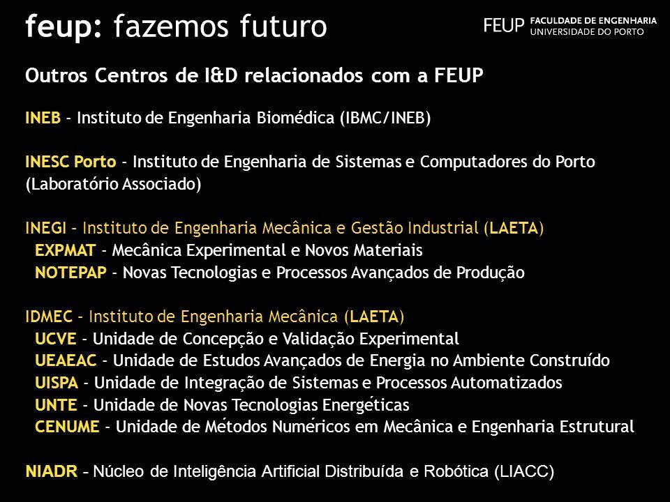feup: fazemos futuro Outros Centros de I&D relacionados com a FEUP