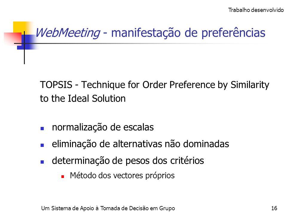 WebMeeting - manifestação de preferências