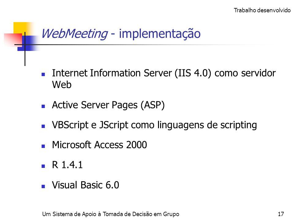 WebMeeting - implementação