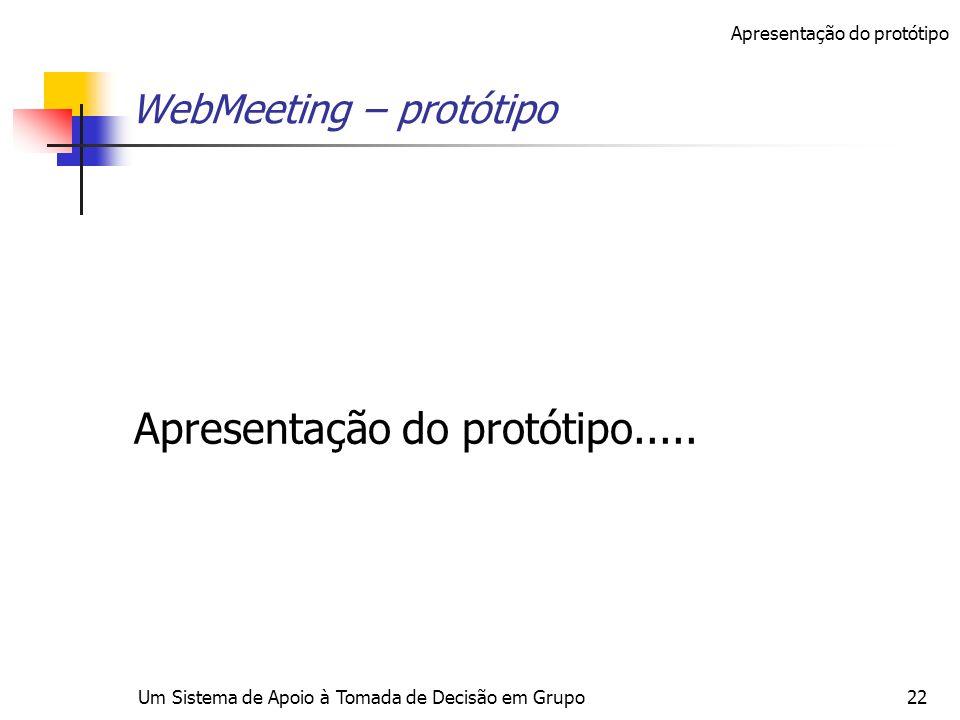 WebMeeting – protótipo
