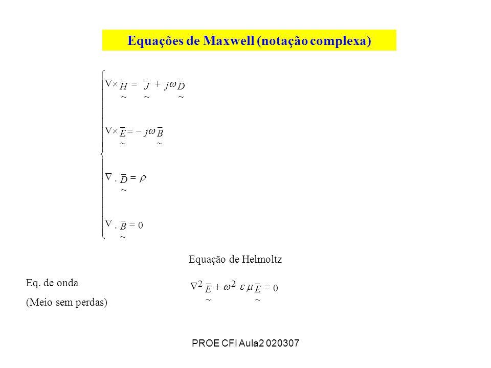Equações de Maxwell (notação complexa)