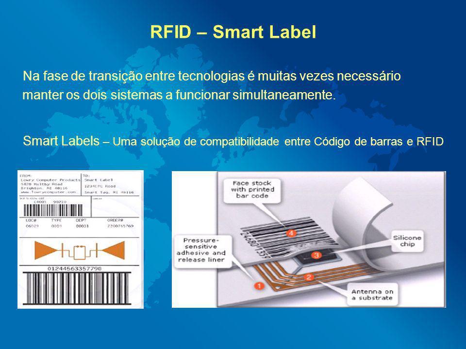 RFID – Smart Label Na fase de transição entre tecnologias é muitas vezes necessário. manter os dois sistemas a funcionar simultaneamente.