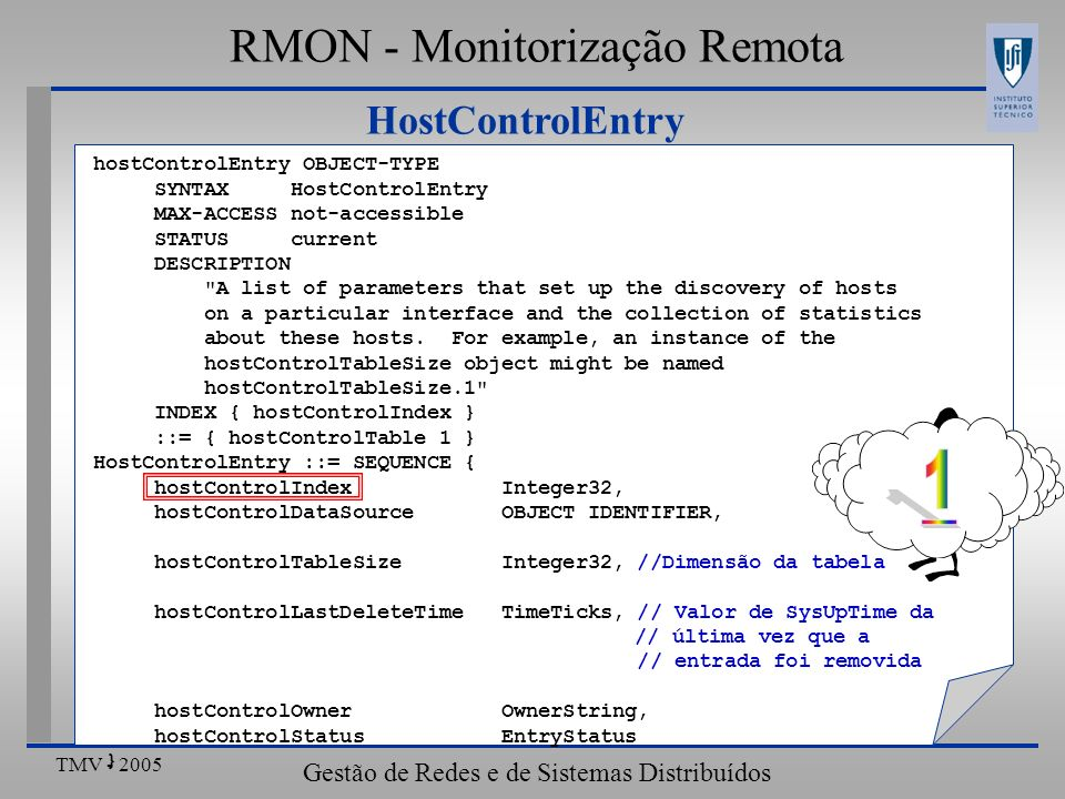 1 RMON - Monitorização Remota HostControlEntry