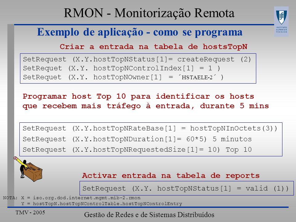Exemplo de aplicação - como se programa