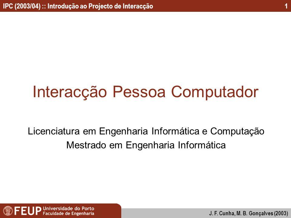 Interacção Pessoa Computador