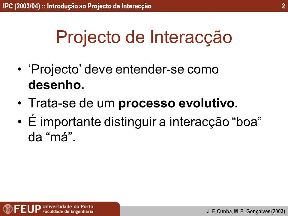 Projecto de Interacção