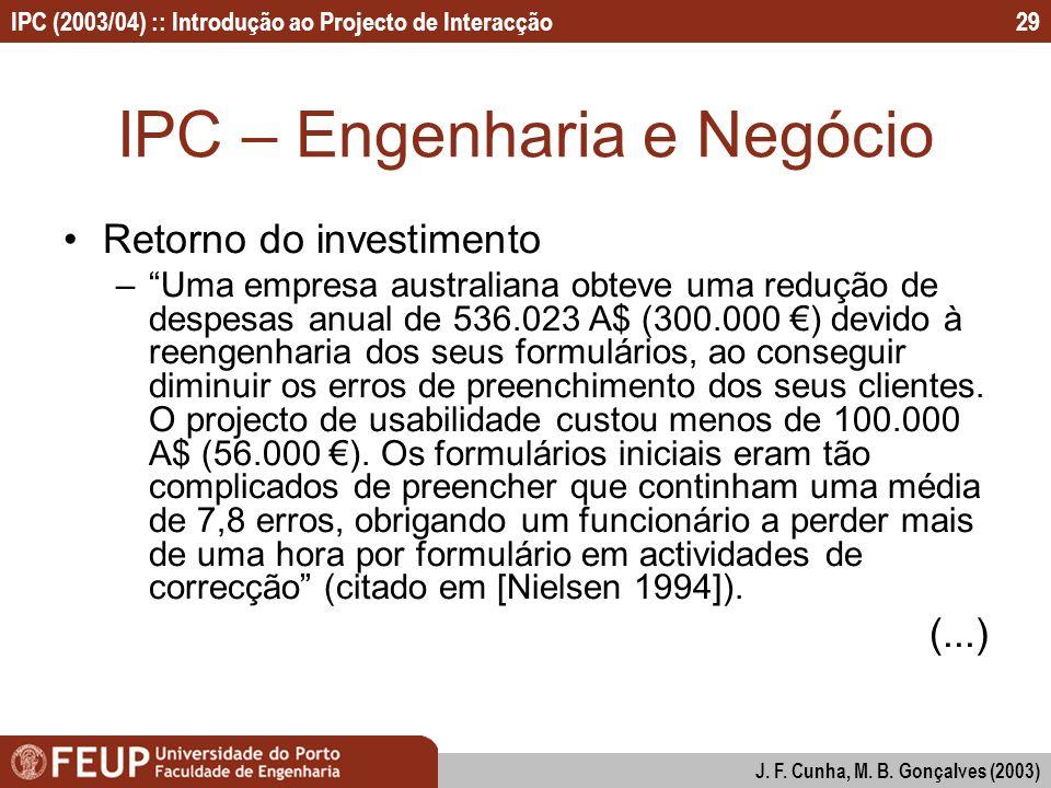 IPC – Engenharia e Negócio