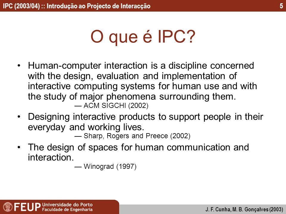 O que é IPC