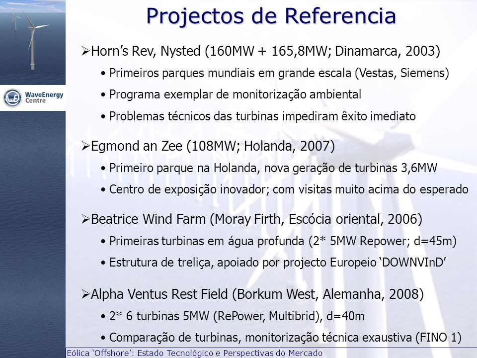 Projectos de Referencia