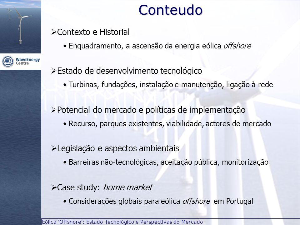 Conteudo Contexto e Historial Estado de desenvolvimento tecnológico