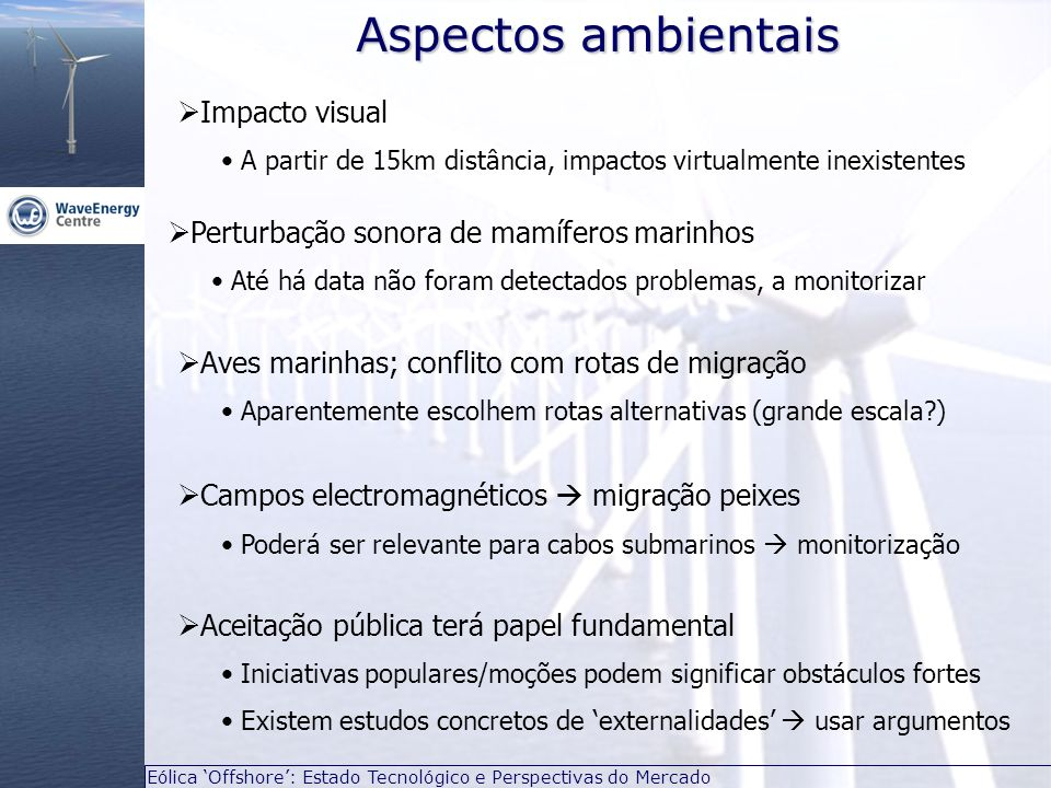 Aspectos ambientais Impacto visual