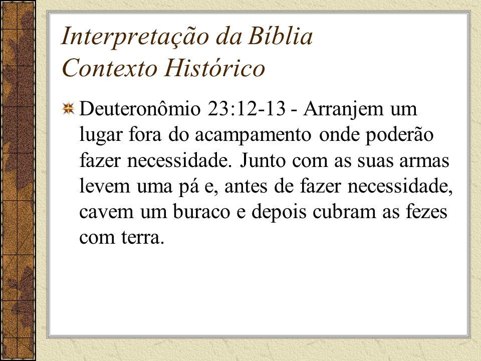Interpretação da Bíblia Contexto Histórico