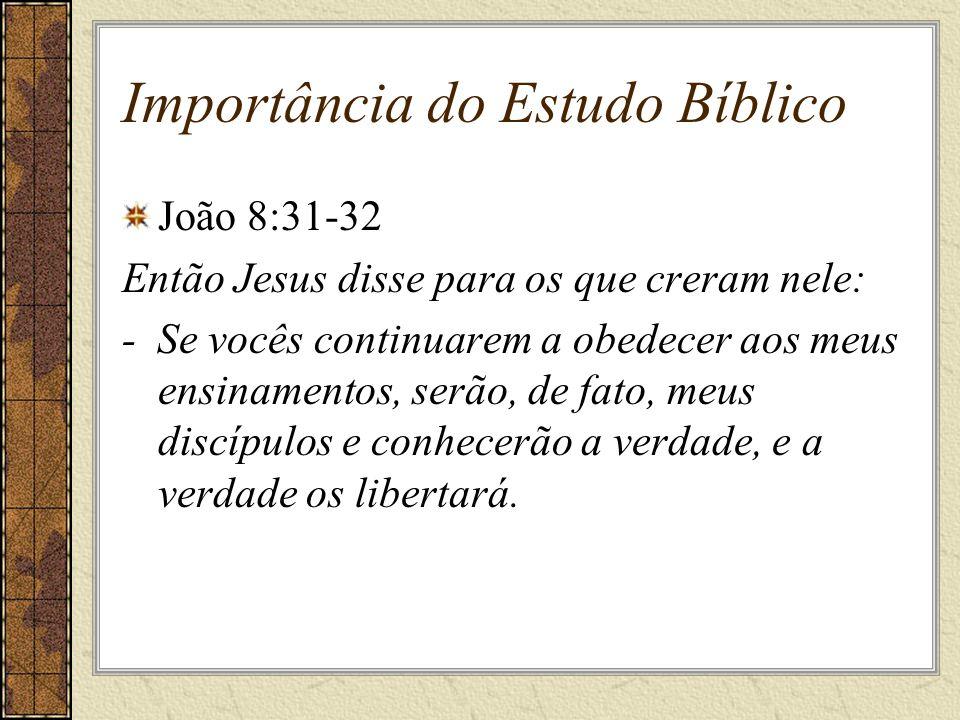 Importância do Estudo Bíblico
