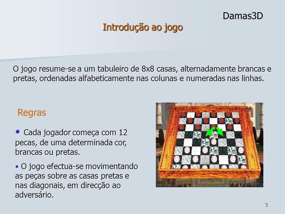 Introdução ao jogoDamas3D.