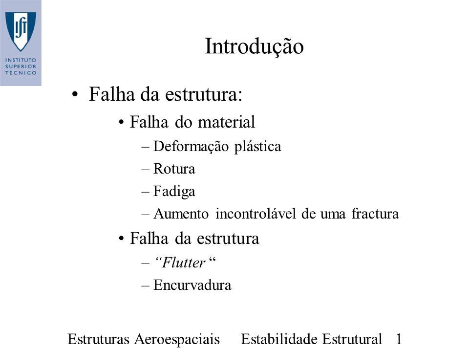 Introdução Falha da estrutura: Falha do material Falha da estrutura