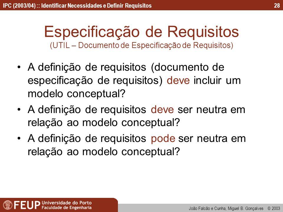 Especificação de Requisitos (UTIL – Documento de Especificação de Requisitos)