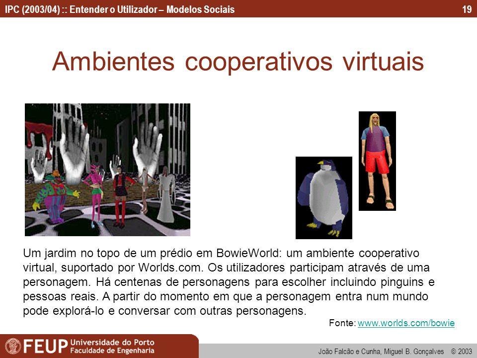 Ambientes cooperativos virtuais