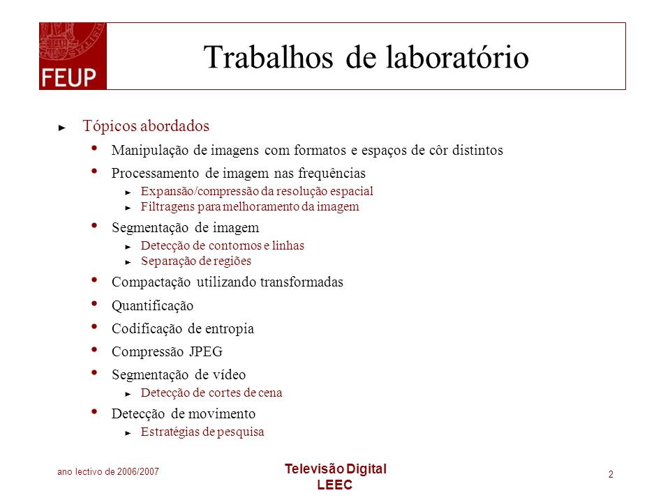 Trabalhos de laboratório