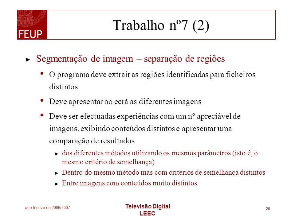 Trabalho nº7 (2) Segmentação de imagem – separação de regiões