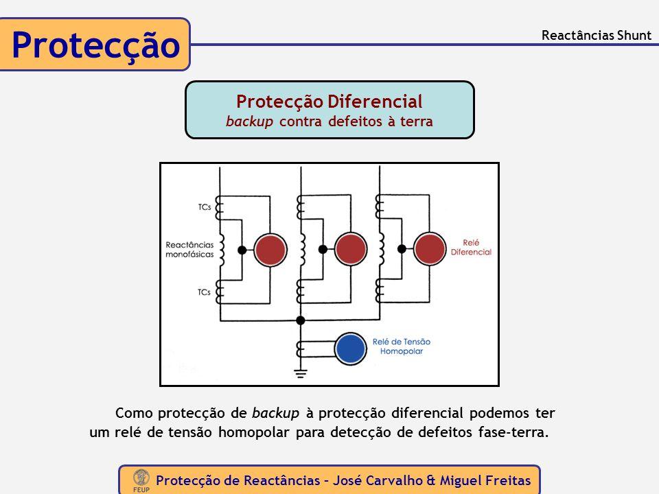 Protecção Diferencial backup contra defeitos à terra