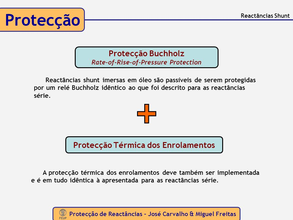 Protecção Protecção Buchholz Rate-of-Rise-of-Pressure Protection