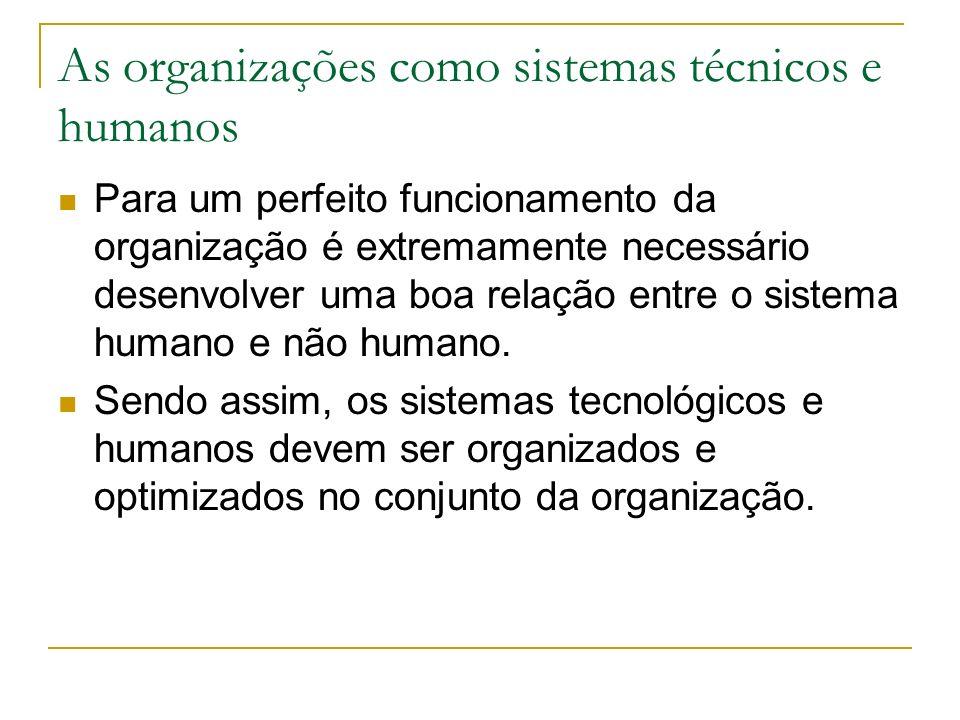 As organizações como sistemas técnicos e humanos