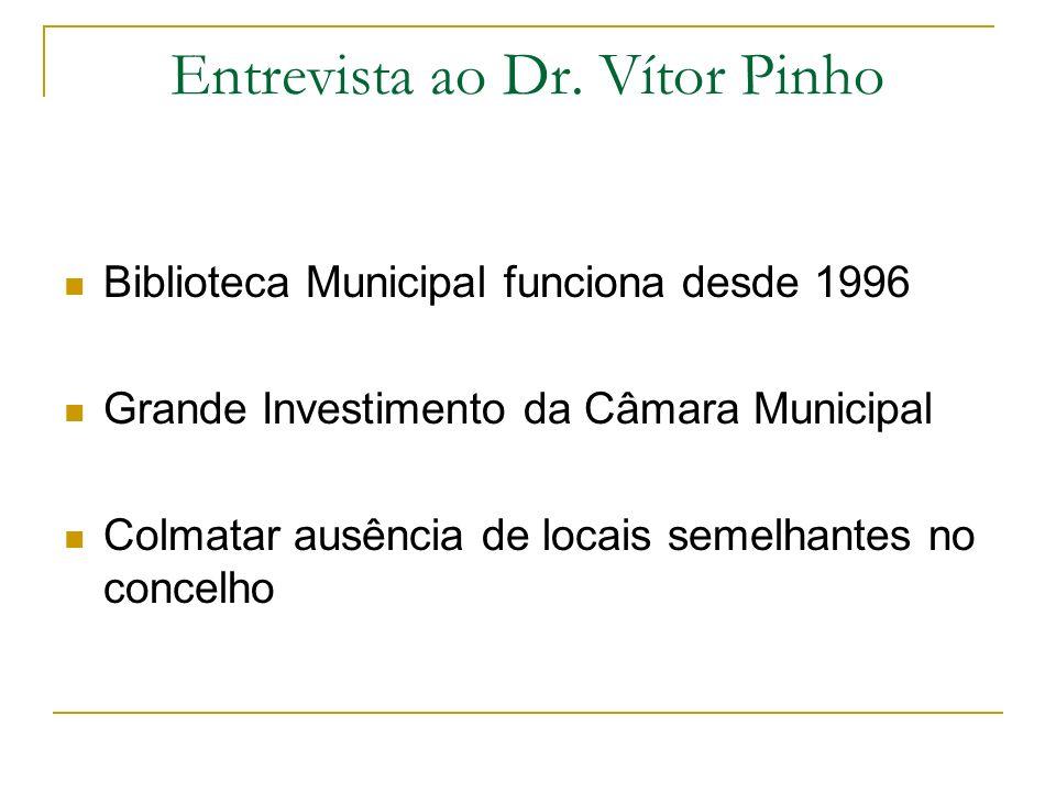 Entrevista ao Dr. Vítor Pinho