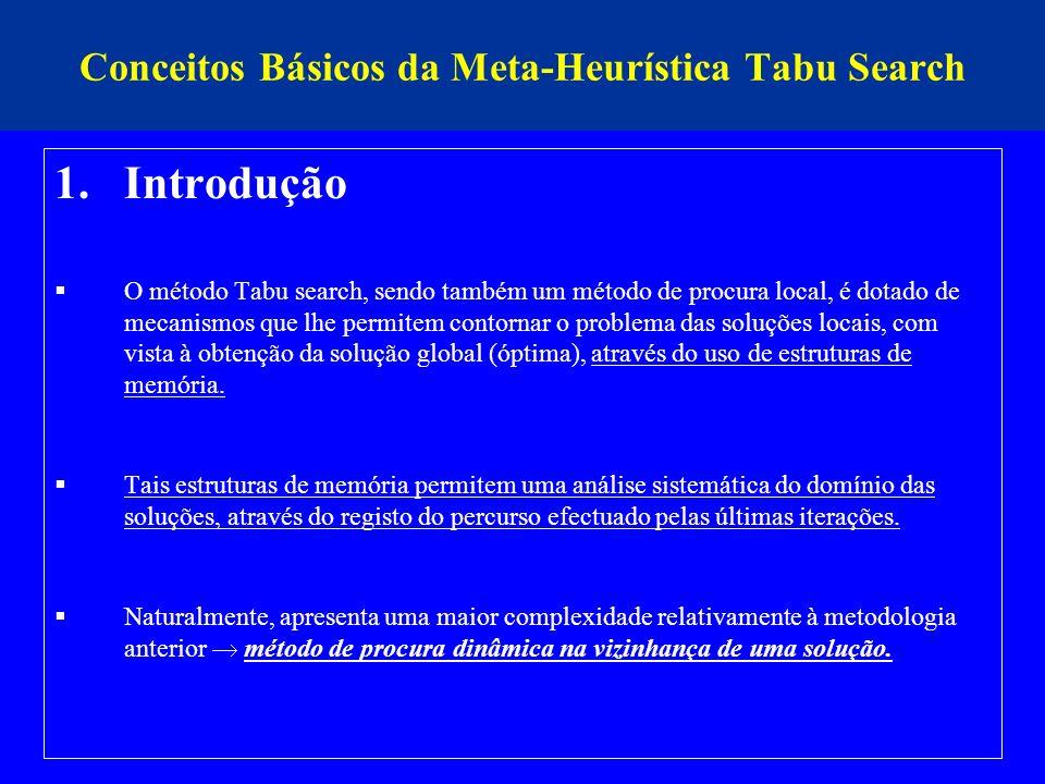 Conceitos Básicos da Meta-Heurística Tabu Search
