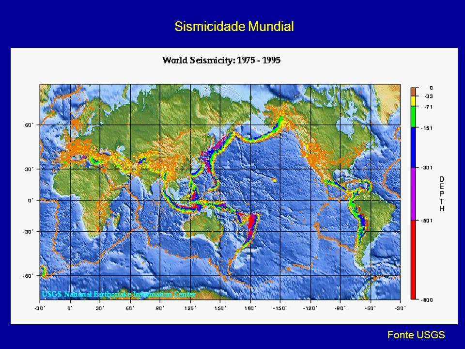Sismicidade Mundial Fonte USGS