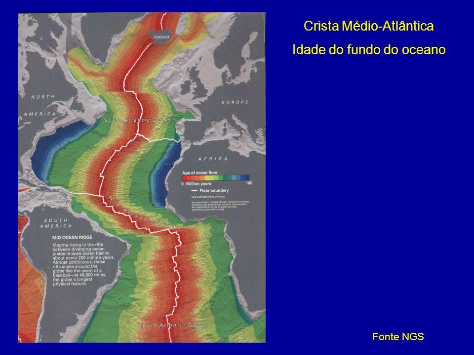 Crista Médio-Atlântica Idade do fundo do oceano