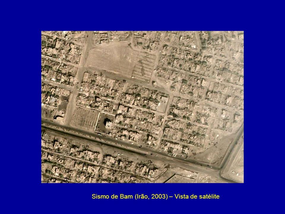 Sismo de Bam (Irão, 2003) – Vista de satélite