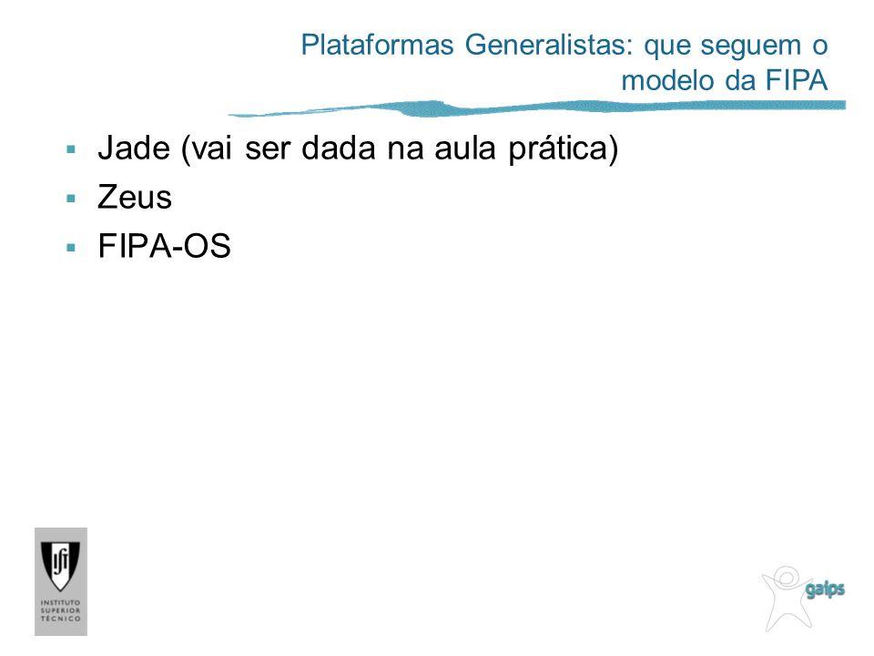 Jade (vai ser dada na aula prática) Zeus FIPA-OS