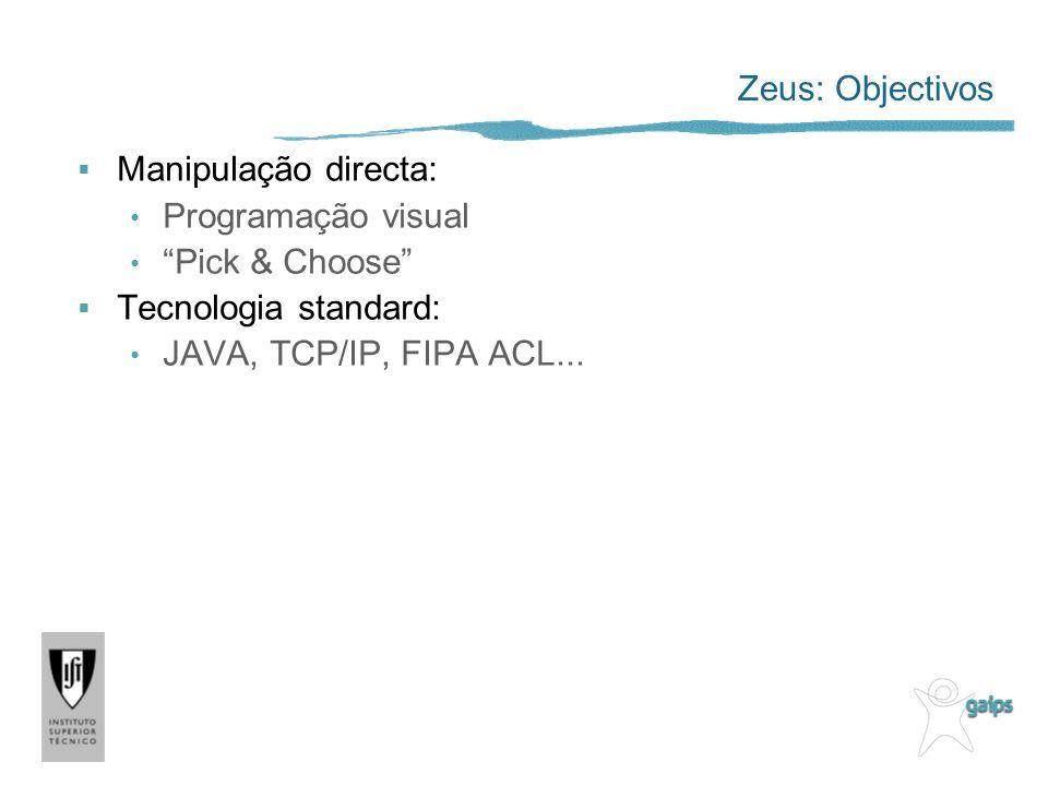 Zeus: Objectivos Manipulação directa: Programação visual.