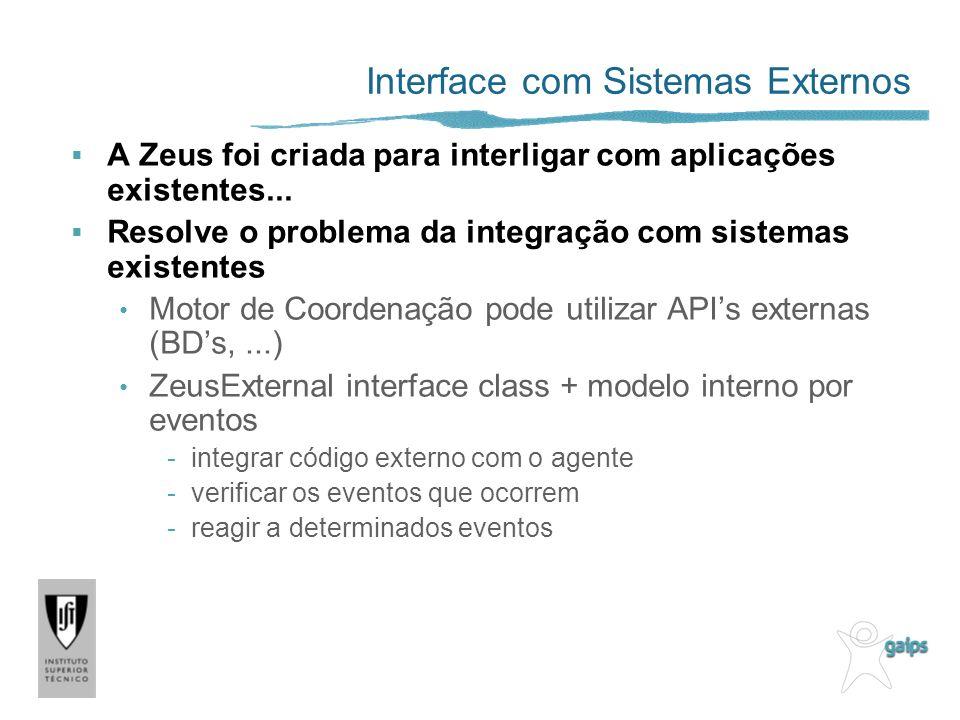 Interface com Sistemas Externos