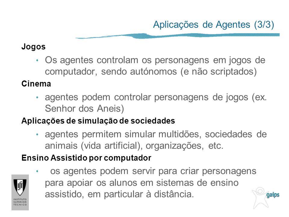 Aplicações de Agentes (3/3)