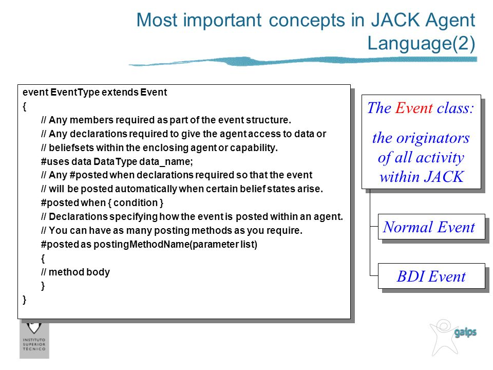 Most important concepts in JACK Agent Language(2)